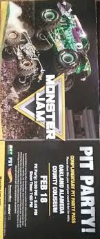 Monster Jam Pit Party Passes (Tickets) In Antioch, CA - OfferUp Personalized Custom Name Tshirt Monster Truck El Diablo Jam San Jose Tickets Na At Levis Stadium 20170422 And Game Schedules Goldstar Monster Jam Triple Threat Series Video A Look Raiders Qb Derek Carrs New Receiver Tom Meents My 2018 First Quarter Schedule Facebook Monster Truck Show Oakland 28 Images 100 In Dps Partners With Feld Motor Sports To Host U201cmonster Grave Digger 2015 Oakland California Youtube Ncaa Football Headline Tuesday On Sale