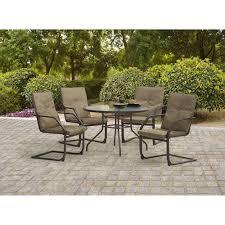 Mainstays Patio Furniture Manufacturer by Mainstays Spring Creek 5 Piece Patio Dining Set Seats 4 Walmart Com