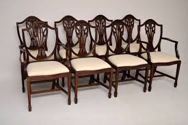 Set Of 8 Adam Style Mahogany Dining Chairs C.1940 - LA41421 ... 50 Ice Cream Parlor Chairs Youll Love In 20 Visual Hunt Thonet 1940s Style Art Deco Piano Stool Bentwood Bistro Mahogany Ding Room Table Portaldofutebol Ding Room Ensemble By Paul Frankl Usa Osvaldo Borsani Borsani Chairs Set From 1940 Antique Fniture Image And Cox Chair Set Of Eight Other Quanties Available Childrens Wooden School Desk With Inkwell For Free Fniture Vintage Fph1 Hornsteinco Cherry Grove