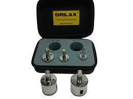 Tile Hole Saw Set by Drilax 5 Pcs Diamond Drill Bit Set 3 4
