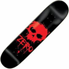 zero skateboards zero blood skull deck 7 75 skateboard decks