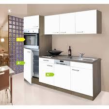 respekta küchenzeile kb205eyw 205 cm weiß eiche york nachbildung