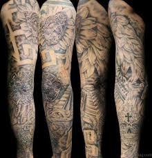 Aztec Tattoo On Full Sleeve