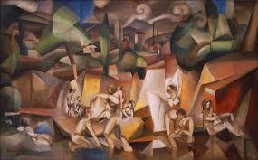 musee d modern de la ville de file albert gleizes 1912 les baigneuses on canvas 105 x