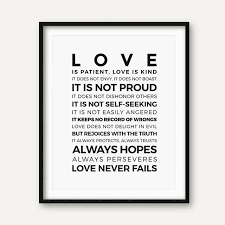 Love Is Patient Kind Prints Poster Home Living Room Bible Verse Wall Art Canvas Painting Christian