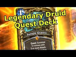 hearthstone fun decks legendary druid quest deck legendary