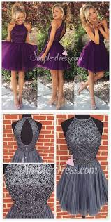 new arrival open back gray tulle sh homecoming dresses dress