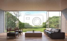 fototapete modernes zeitgenössisches wohnzimmer 3d renderingbild die räume