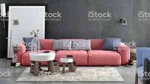modernes nordisches wohnzimmer mit sofa und vielen details stockfoto und mehr bilder 2019