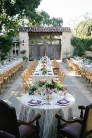Elegant Dark Plum Chairs At Sweetheart Table Purple Napkins Low Centerpieces Outdoor Wedding