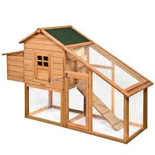 Costway 45 Wooden Rabbit Hutch Small Animal House Pet Cage Chicken