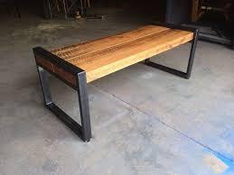 HLC Garden Bench Modern Metal Black 2 Seat Indoor Outdoor Home