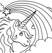 Printable Rainbow Coloring Page Beautiful Unicorn Starring A Fading Free