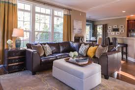 san francisco leather couch home living room industrial with light