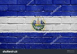 flag el salvador painted onto grunge stock photo 31883743