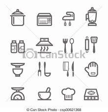 symbole cuisine symbole cuisine ligne icône symbole illustration clip