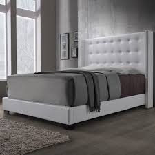 Skyline White Tufted Headboard by Black Tufted Wingback Headboard Tufted Headboard King Full Image