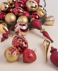 Burgundy Gold Ornament Collection