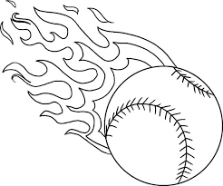 Baseball Coloring Pages Mlb Fire Page Download Print Online