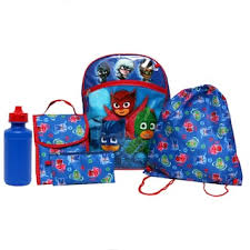 Kids Paw Patrol Chase Marshall Rubble Backpack Lunch Bag Pencil
