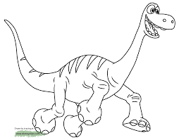 Download Coloring Pages Dinosaur Color The Good Printable Disney Book