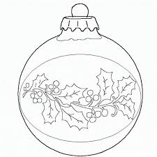 Ball Christmas Ornament Coloring Page Print And Download Area