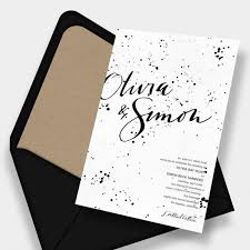 Cheap Black And White Fall Wedding Invitation WIP041
