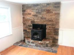 Fireplace Remodel Ideas Refacing With Tile Modern Brick Wall Plans
