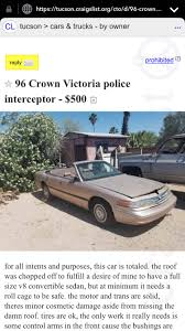 100 Craigslist Tucson Cars Trucks By Owner Convertible CVPI CrownVictoria