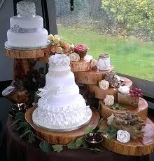 Wooden Cake Stands For Wedding Cakes The Cupcake Stand 4 Tiered Rustic Display Weddings Parties Craft