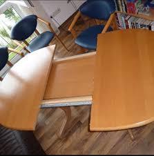 erle massiv esszimmer tisch und 6 stühle