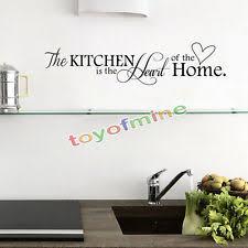 stickers phrase cuisine 1 décorations murales et stickers pour la cuisine ebay