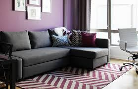 Contemporary Purple Blue Living Room