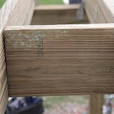 Floor Joist Bracing Support by How To Build A Deck Wood Decking And Railings