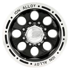Amazon.com: Ion Alloy 174 Black Wheel With Machined Lip (17x9 ...