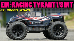 100 Brushless Rc Truck EMRacing Tyrant 18 4WD RC Monster 6S