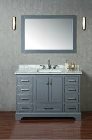 48 Cabinet With Drawers by Stufurhome Newport Grey 48 Inch Single Sink Bathroom Vanity With