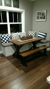My Husband Built This Table And Bench Seating For Nook Area I Just Love It