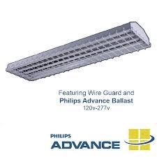 T12 4 Lamp Fluorescent Ballast by Heno 4 Lamp Caged T5 Fluorescent High Bay 120v 277v