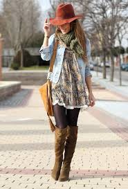 Boho Chic Pretty Dress With Hat