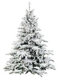 FLOCKED LIGHTED PINE TREE