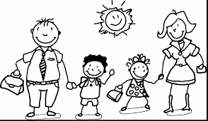 Family Coloring Pages Within