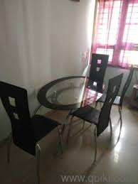 PF Gently Used 4 Seater Glass Top Dining Table In Good Condition Quikr Product Not For Sale