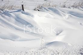 Snow Drift In An Iowa Ditch