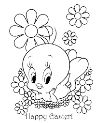 Easter Coloring Pages Free For Preschoolers Pictures Bunny Happy
