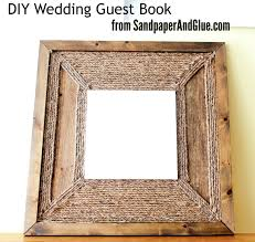 Rustic Wood And Rope Guest Book Art