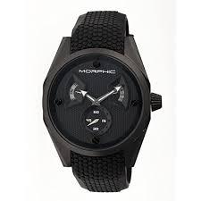 Morphic Mens MPH3405 M34 Series Black Silicone Watch