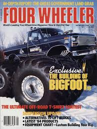 100 Bigfoot Monster Truck History BIGFOOT III On The May 1984 Cover Of Four Wheeler Magazine