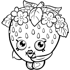 Strawberry Kiss Shopkins Season One Coloring Page