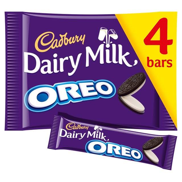 Cadbury Dairy Milk with Oreo Chocolate Bars - 4 Pack, 164g